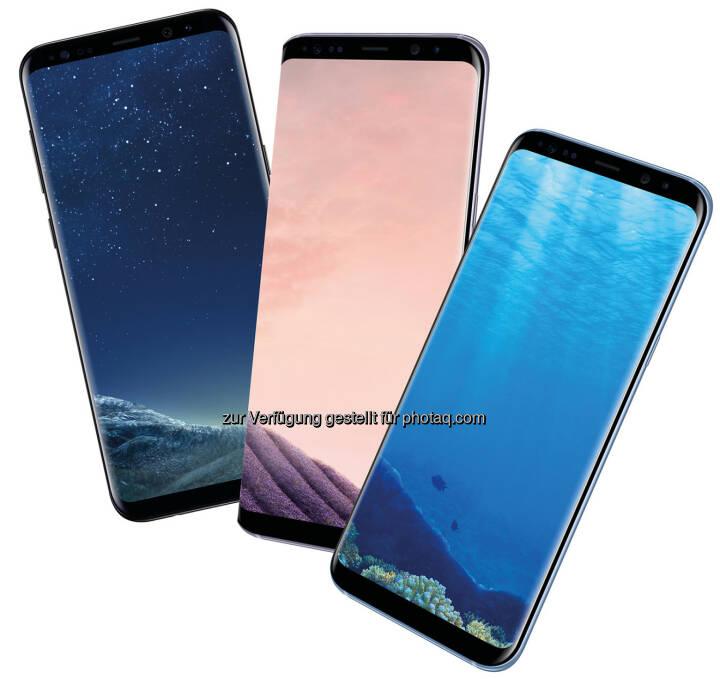 Samsung Galaxy S8+ - Hutchison Drei Austria Gmbh: Nur bei Drei: Vorverkaufsstart für Samsung Galaxy S8/ S8+ in Blau. (Fotocredit: Hutchison Drei Austria GmbH)