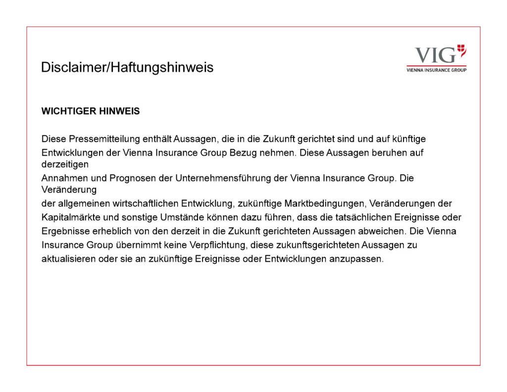 Präsentation VIG - Disclaimer (30.03.2017)