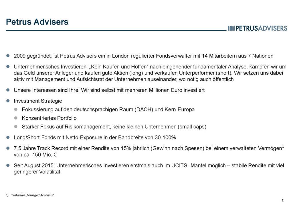 Petrus Advisers - Überblick (30.03.2017)