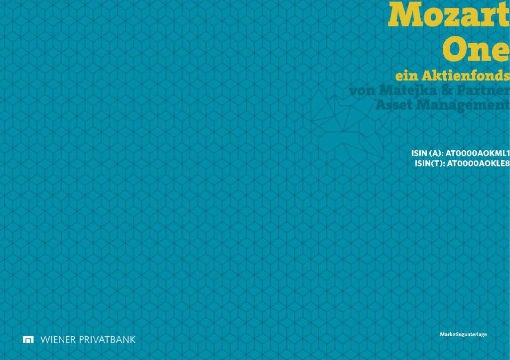 Wiener Privatbank - Mozart One (30.03.2017)