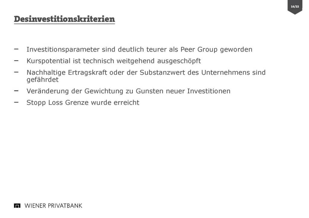 Wiener Privatbank - Deinvestitionskriterien (30.03.2017)