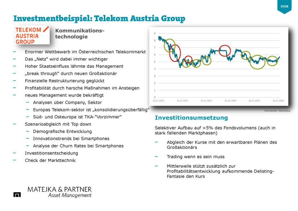 Wiener Privatbank - Investmentbeispiel Telekom Austria (30.03.2017)