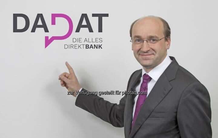 Mit der Webseite www.dad.at, die optimal auch für die mobile Nutzung per Smartphone und Tablet konzipiert ist, möchte Huber neue Maßstäbe in der österreichischen Direktbankenlandschaft setzen. (Bildquelle: DADAT Bank, Andreas Kolarik)