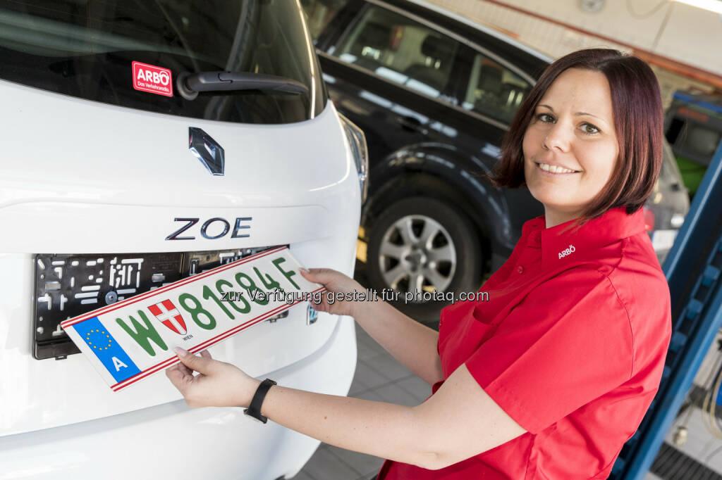 ARBÖ: Ab sofort: Grüne Kennzeichen für E-Autos (Fotograf: Martin Steiger / Fotocredit: ARBÖ), © Aussendung (03.04.2017)