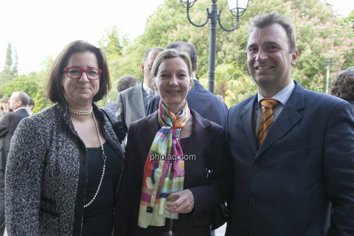 Judit Helenyi (Flughafen Wien), Doris Gstatter (Scholdan), Bernhard Pieb (Pioneer Investments Austria)