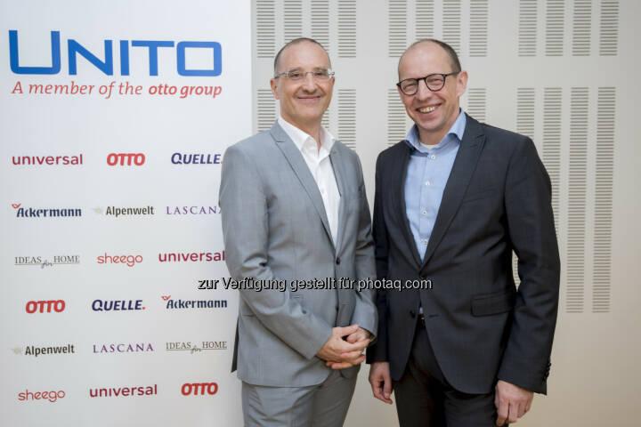 Mag. Harald Gutschi und Dkfm. Achim Güllmann - UNITO Versand & Dienstleistungen GmbH: E-Commerce zieht weiter an: UNITO-Gruppe erzielt ein Online-Plus von 5 Prozent (Fotocredit: Unito/APA-Fotoservice/Hörmandinger)