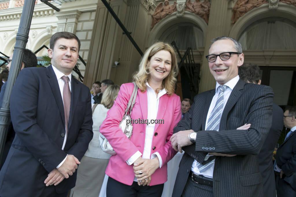 Tomislav Pasalic (RCB), Barbara Braunöck (Wienerberger), Wilhelm Celeda (RCB), © finanzmarktfoto/Martina Draper (15.05.2013)