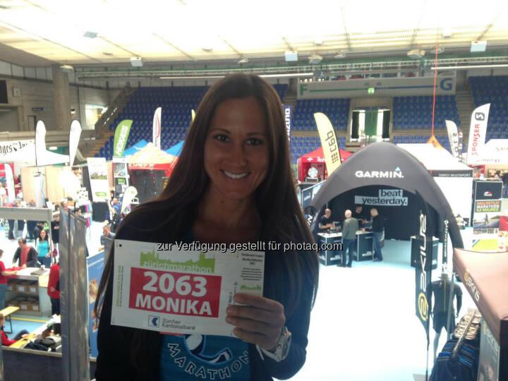 Monika Kalbacher, Zürich Marathon, Startnummer