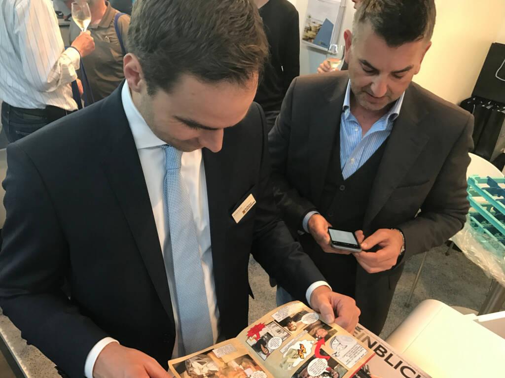 Philipp Arnold, Erich Peinsipp mit dem Mini-  http://www.boerse-social.com/magazine , beigelegt bei http://markteinblicke.de #invest2017 (09.04.2017)