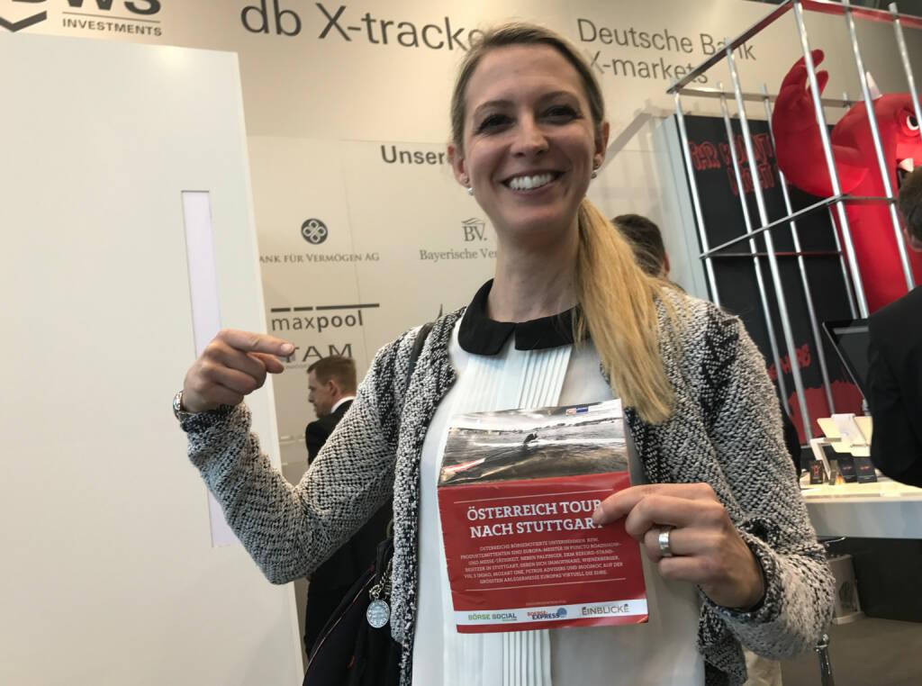 Nina Bergmann mit dem Mini-  http://www.boerse-social.com/magazine , beigelegt bei http://markteinblicke.de #invest2017 (09.04.2017)