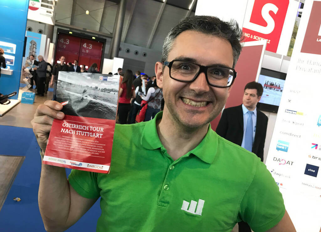 Stefan Kainz mit dem Mini-  http://www.boerse-social.com/magazine , beigelegt bei http://markteinblicke.de #invest2017 (09.04.2017)