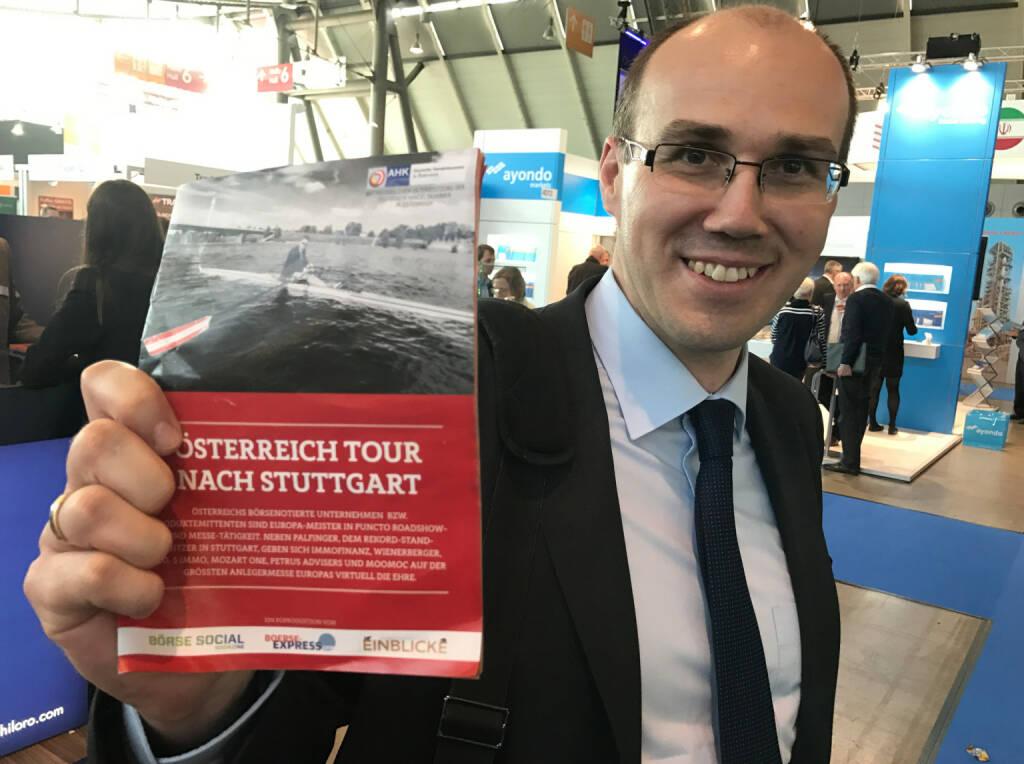 Bernard Dörflinger mit dem Mini-  http://www.boerse-social.com/magazine , beigelegt bei http://markteinblicke.de #invest2017 (09.04.2017)
