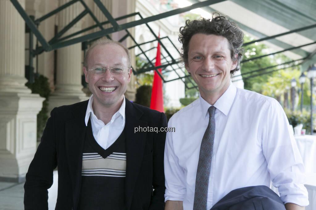 Konrad Sveceny (bwin.party), Andreas Posavac (Ipreo), © finanzmarktfoto/Martina Draper (15.05.2013)