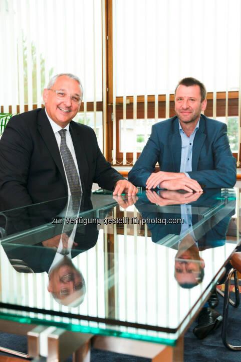 Ing. Thomas Lackner, Vorstand HDI Versicherung AG, und Günther Weiß, Vorstandsvorsitzender HDI Versicherung AG - HDI Versicherung AG: HDI Versicherung jetzt mit Mediation in der Kfz-Haftpflichtversicherung (Fotocredit: HDI/Claudia Rohrauer)