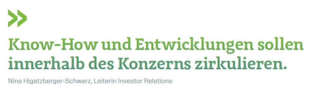 Know-How und Entwicklungen sollen innerhalb des Konzerns zirkulieren. Nina Higatzberger-Schwarz, Leiterin Investor Relations VIG, © photaq.com/Börse Social Magazine (11.04.2017)