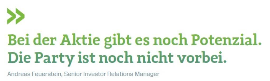 Bei der Aktie gibt es noch Potenzial. Die Party ist noch nicht vorbei. Andreas Feuerstein, Senior Investor Relations Manager S Immo, © photaq.com/Börse Social Magazine (11.04.2017)
