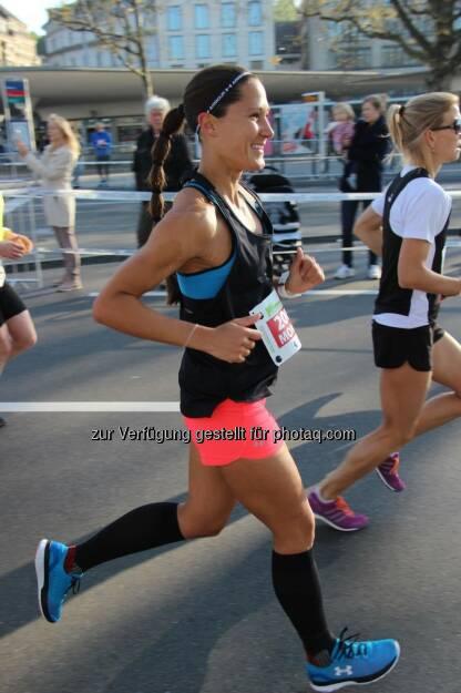 Monika Kalbacher beim Zürich Marathon (11.04.2017)