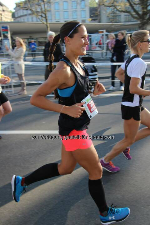 Monika Kalbacher beim Zürich Marathon