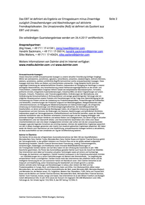 Ebit des Daimler-Konzerns im ersten Quartal 2017 , Seite 2/2, komplettes Dokument unter http://boerse-social.com/static/uploads/file_2205_ebit_des_daimler-konzerns_im_ersten_quartal_2017.pdf