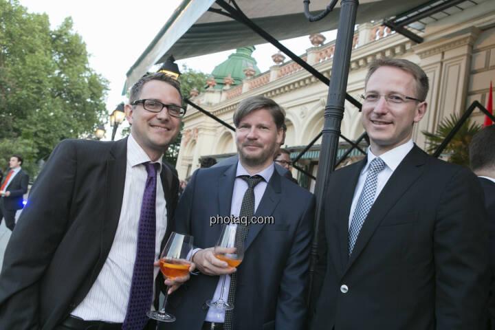 Gerald Walek (Erste Group), Günther Schmitt (RCM), Bernd Maurer (RCB)
