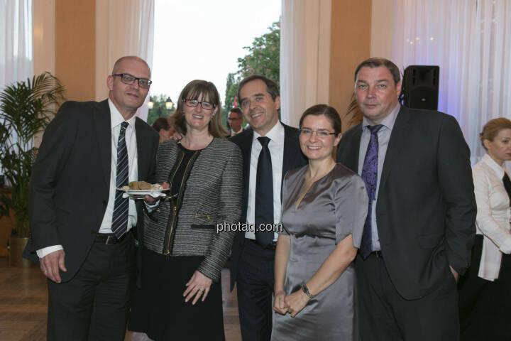 Karl Brauneis, Henriette Lininger (Wiener Börse), Wolfgang Matejka (Matejka & Partner), Claudia Vince-Bsteh (RCB), Hannes Roither (Palfinger)
