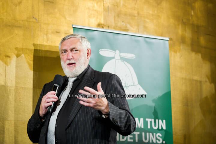 Franz Fischler, Jury-Vorsitzender TUN-Fonds - T-Mobile: T-Mobile-Fonds vergibt 50.000 Euro für nachhaltige Innovationen (Fotocredit: Daniel Auer)