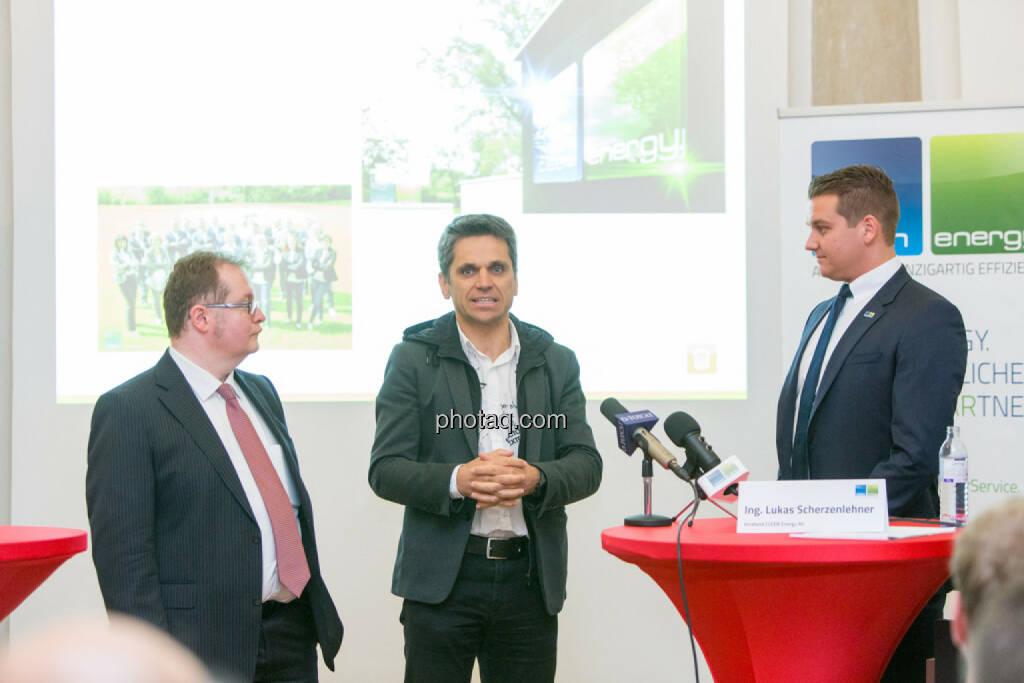 Gregor Rosinger (Rosinger Group, Investor), Michael Altrichter (Investor), Lukas Scherzenlehner (Cleen Energy), © Martina Draper/photaq (20.04.2017)