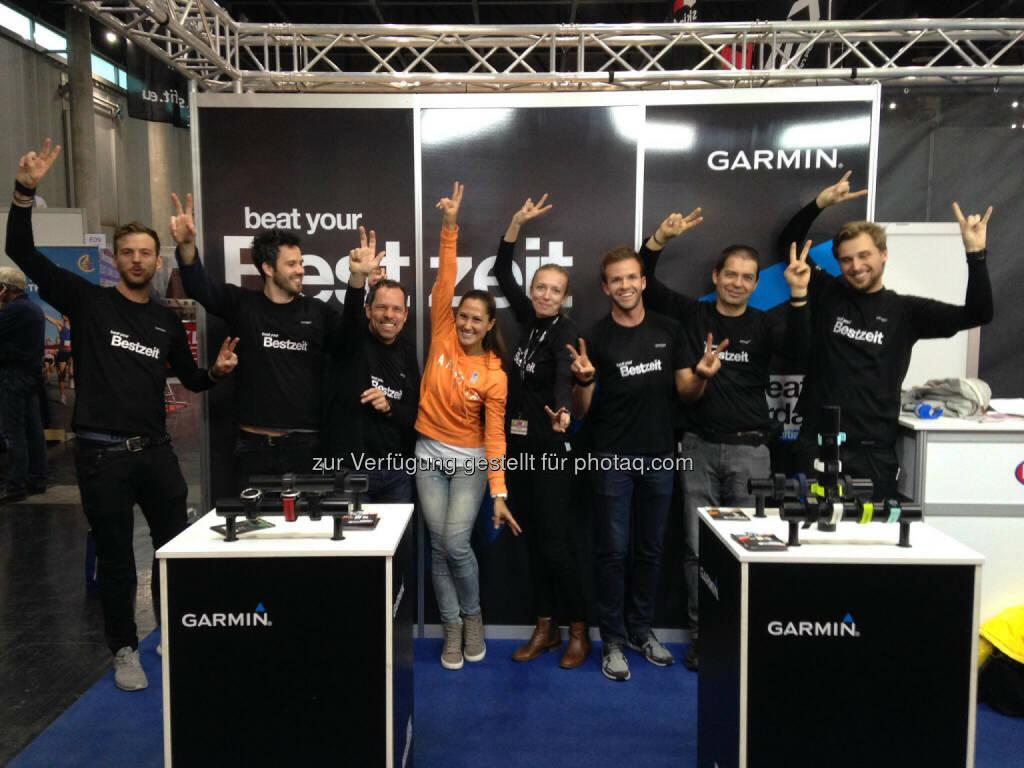 Monika Kalbacher am Garmin Stand auf der VCM Expo (22.04.2017)