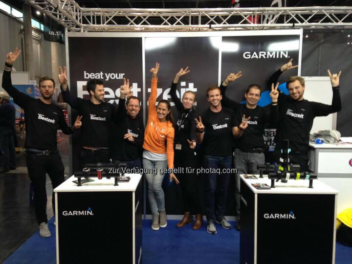 Monika Kalbacher am Garmin Stand auf der VCM Expo