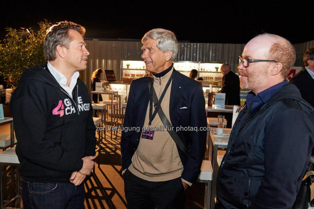 Markus Breitenecker, Hermann Hauser & Oliver Holle, ©  ProSiebenSat.1 Puls4 (25.04.2017)