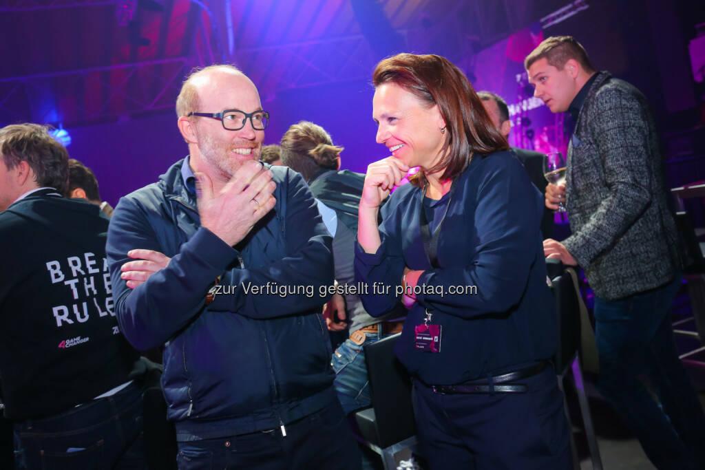Oliver Holle & Marie-Helene Ametsreiter (Speedinvest), ©  ProSiebenSat.1 Puls4 (25.04.2017)