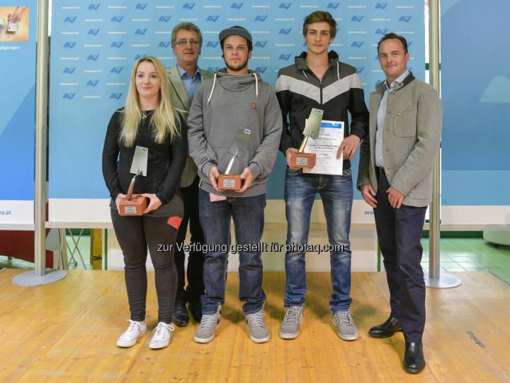AUVA Allgemeine Unfallversicherungsanstalt: Großer AUVA-Sicherheitspreis 2017: Auszeichnung für die besten Maurer- und Zimmereilehrlinge Österreichs (Fotocredit: R. Reichhart)