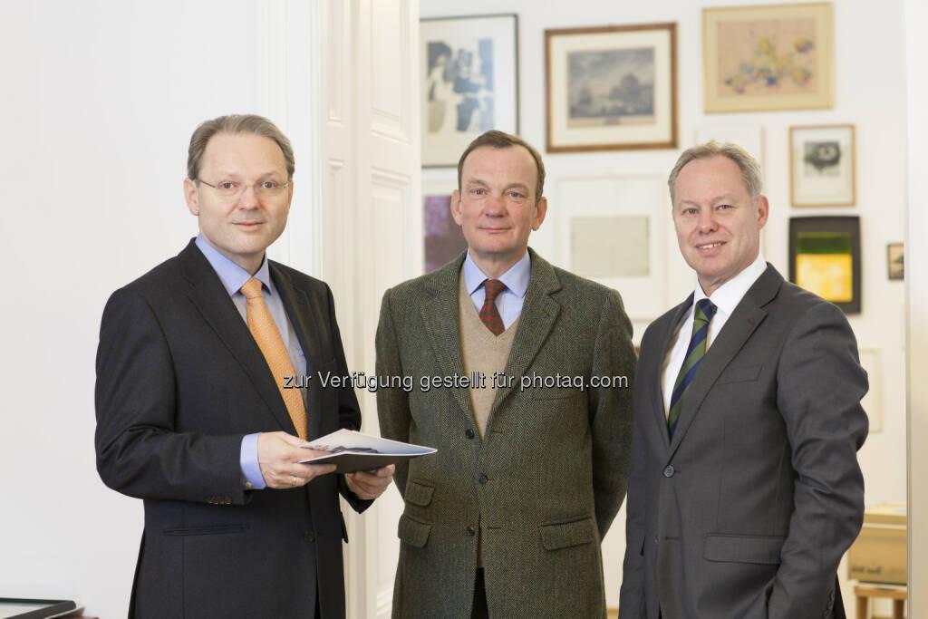 Dr. Karl Derfler, Franz Helbich, DI Herbert Logar - ADEQAT Investment Services GmbH: ADEQAT launcht erstes Onlineportal für Immobilieninvestoren (Fotograf: Petra Rainer / Fotocredit:ADEQAT), © Aussender (26.04.2017)