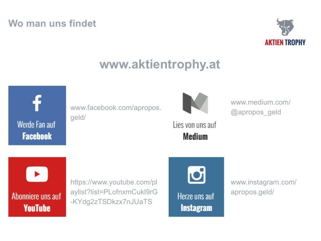 Präsentation aktientrophy.at - Facebook, YouTube, Instagram, Medium (26.04.2017)