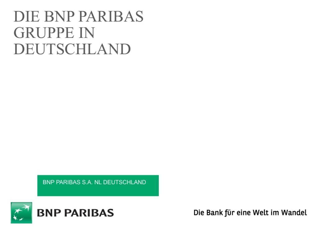 Präsentation BNP Paribas - BSN Roadshow #69 (26.04.2017)