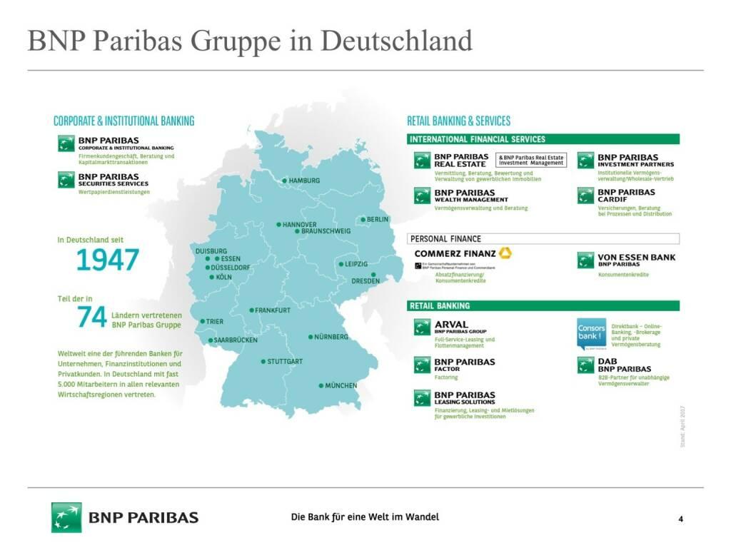 Präsentation BNP Paribas - Deutschland (26.04.2017)