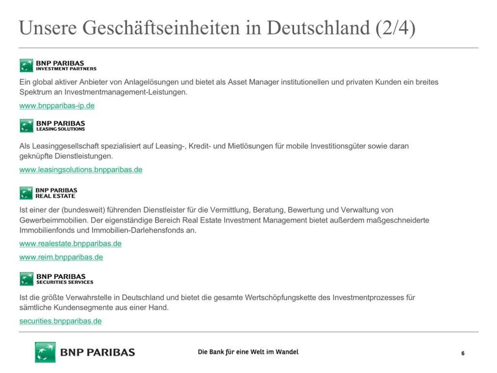 Präsentation BNP Paribas - Geschäftseinheiten (26.04.2017)