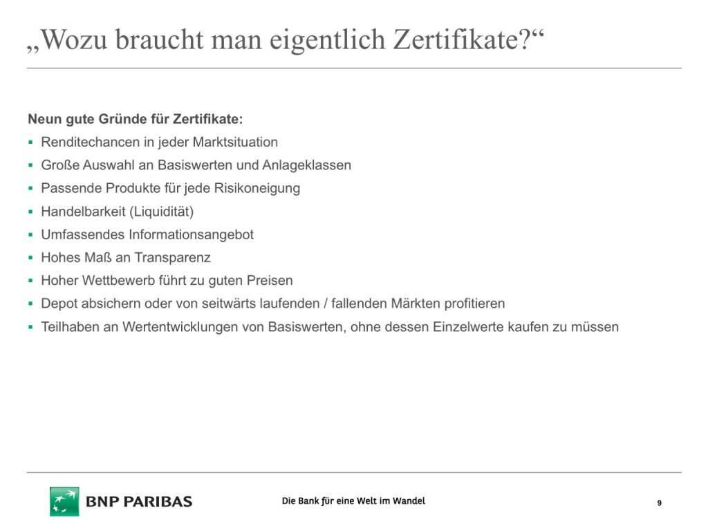 Präsentation BNP Paribas - Wozu Zertifikate (26.04.2017)