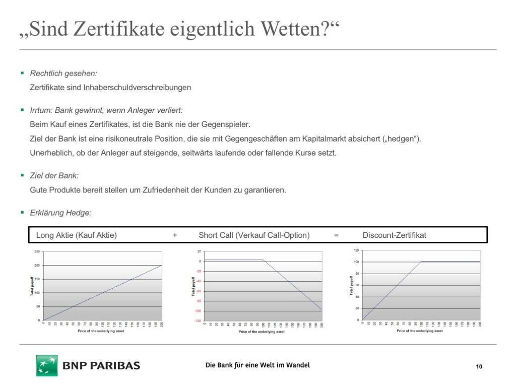 Präsentation BNP Paribas - Sind Zertifikate eigentlich Wetten (26.04.2017)