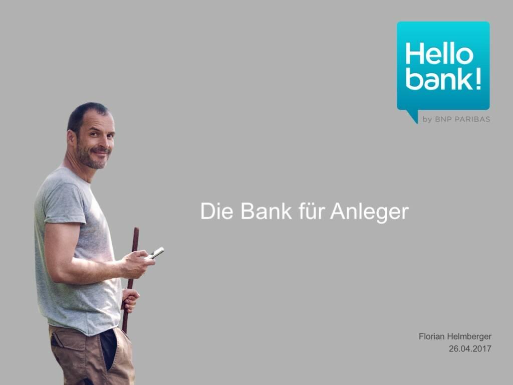 Präsentation Hello bank! - BSN Roadshow (26.04.2017)