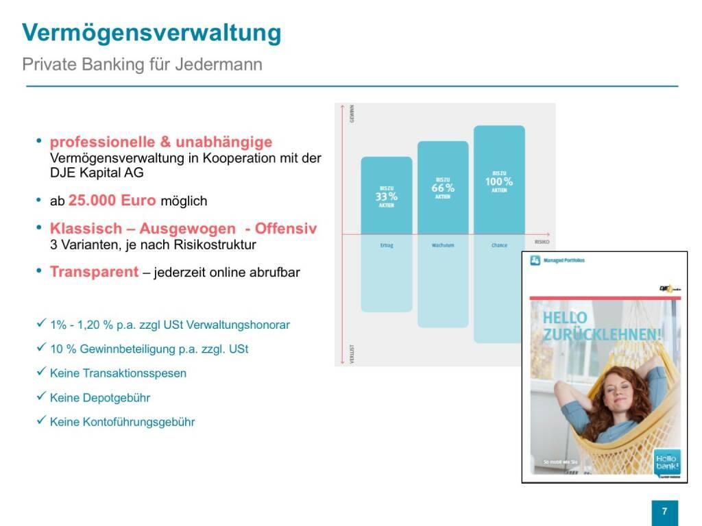 Präsentation Hello bank! - Vermögensverwaltung (26.04.2017)