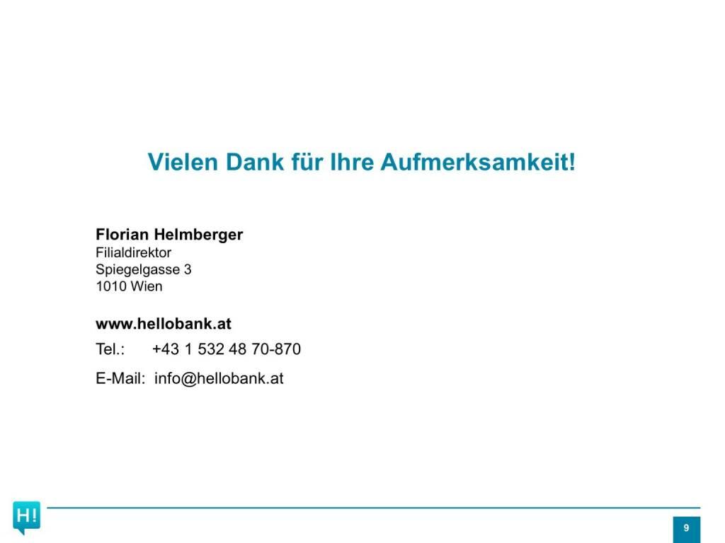 Präsentation Hello bank! - Danke (26.04.2017)