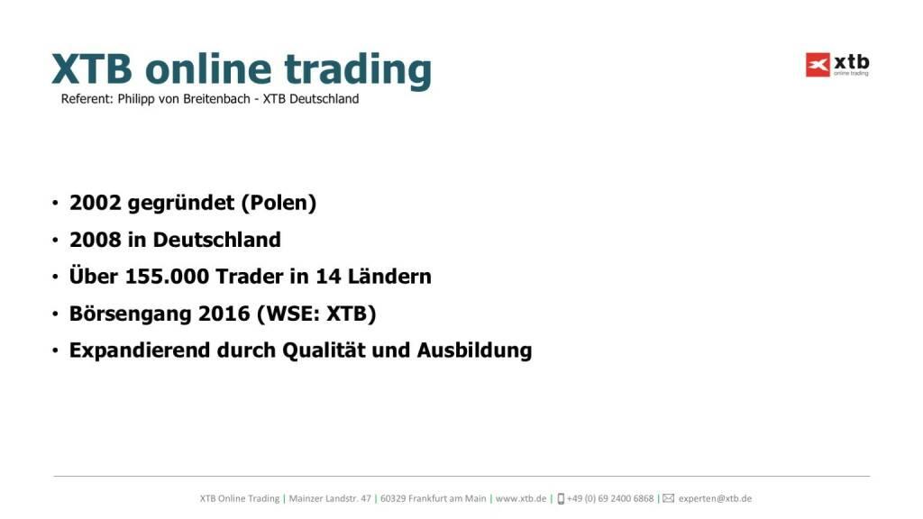 Präsentation xtb online trading (26.04.2017)