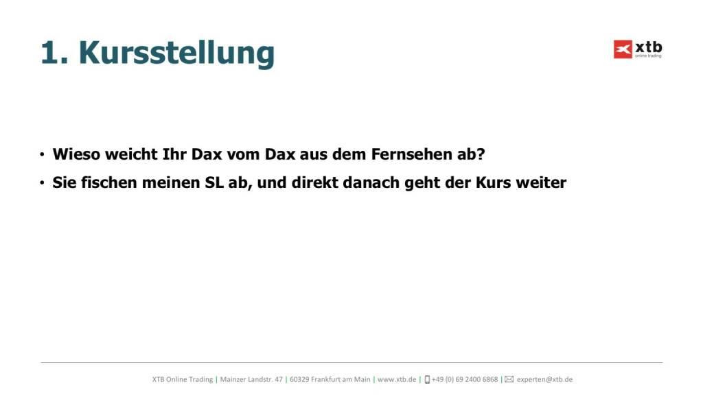 Präsentation xtb online trading - Kursstellung (26.04.2017)