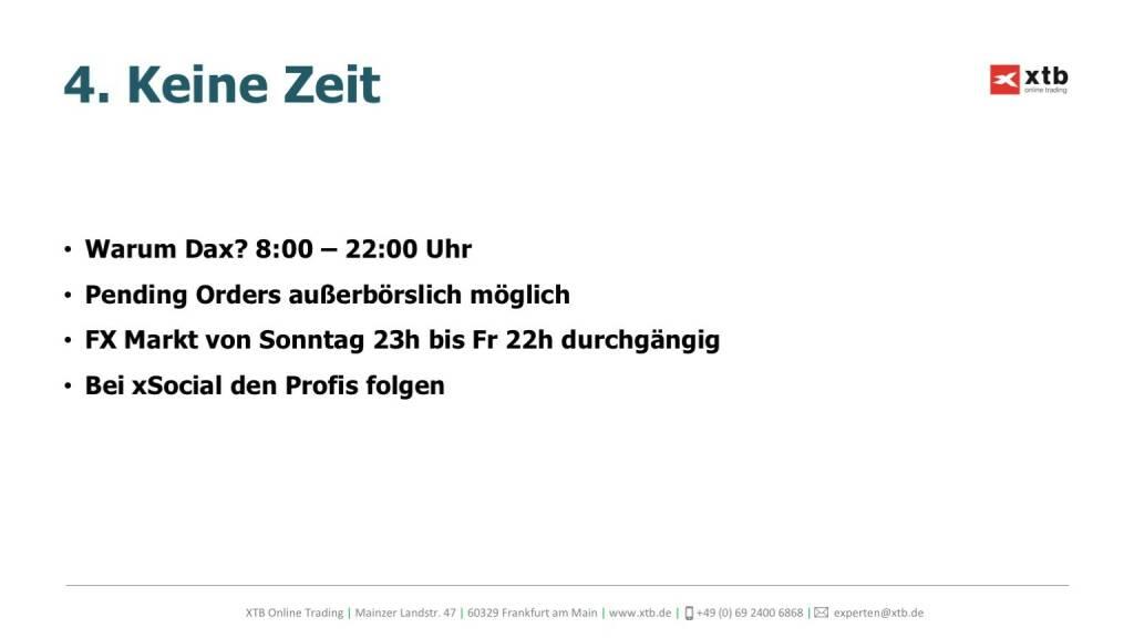Präsentation xtb online trading - Keine Zeit (26.04.2017)