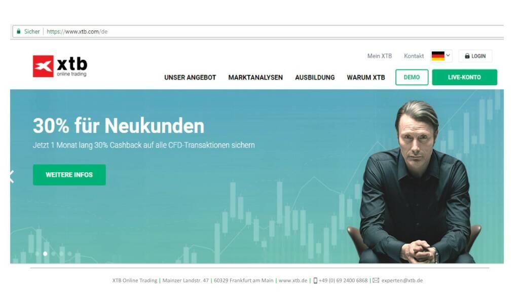 Präsentation xtb online trading - 30% für Neukunden (26.04.2017)