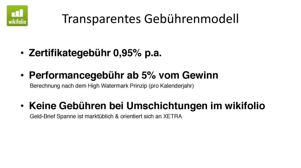 Präsentation Wikifolio - Transparentes Gebührenmodell (27.04.2017)