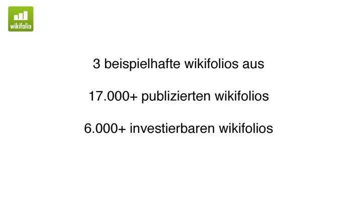 Präsentation Wikifolio - Beispiele