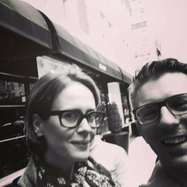 Meeting Ms. Sarah Paulson #americancrimestory #newyork #nyc #iloveny (01.05.2017)