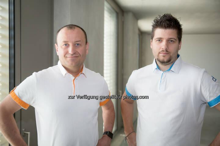 Yann Neuhaus und David Hueber - dbi services sa: dbi services verzeichnet 2016 ein Rekordjahr und ernennt David Hueber zum neuen CEO (Fotograf: Sébastien Deloy / Fotocredit:dbi services sa/SPPJ STUDIO)